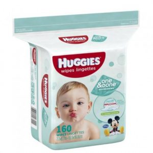 HUGGIES TOALLITAS ONE & DONE X 160 UNID.