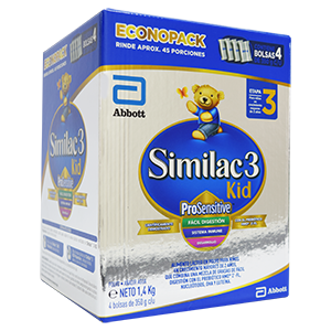 SIMILAC 3 KID PROSENSITIVE CAJA X 1.400 GRM